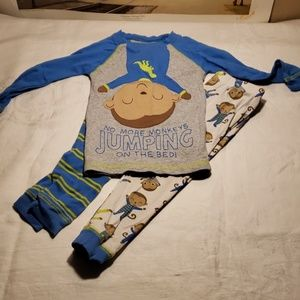 Carter's  Long sleeve monkey pajama set